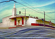 Art Deco Building - Pomona Ca Print by Gregory Dyer