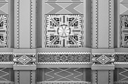 Historical Chandeliers Posters - Art Deco Ceiling Decoration - bw Poster by Nikolyn McDonald