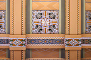 Union Station Lobby Framed Prints - Art Deco Ceiling Decoration Framed Print by Nikolyn McDonald