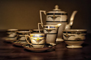 Art Deco Coffee Set Print by Kasia Dixon