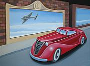 Toy Car Posters - Art Deco Coupe Poster by Stuart Swartz