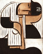 Yankees Painting Prints - Art Deco Derek Jeter Print by Tommervik