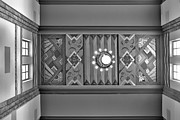 Union Station Lobby Prints - Art Deco East Anteroom - bw Print by Nikolyn McDonald