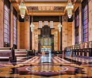 Decorative Benches Photo Framed Prints - Art Deco Great Hall #1 Framed Print by Nikolyn McDonald