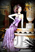 The Creative Minds Photos - Art Deco Lady in Purple by The Creative Minds Art and Photography