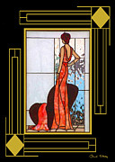 My Art In Your Home Slide Show  - Art Deco - Lady in Red by Chuck Staley