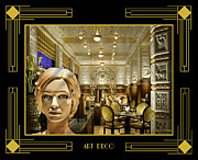 Horizontal - Art Deco - Luna at Cafe Imperial by Chuck Staley