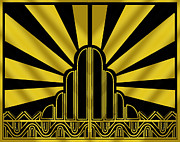 Horizontal - Art Deco Poster - Two by Chuck Staley