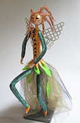 Run Sculptures - art doll Take Off by Lynn Wartski