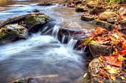 Mini Waterfall Framed Prints - Art for Crohns HDR Fall Creek Framed Print by Tim Buisman