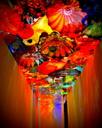 Hallways Prints - Art Glass Ceiling Print by Valerie Clanton
