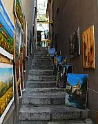 Sicily Photos - Art In An Alley by Mel Steinhauer