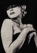 Michael Cross Framed Prints - Art in the news 13-Marilyn Framed Print by Michael Cross