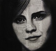 Emma Watson Posters - Art in the news 17-Emma Poster by Michael Cross