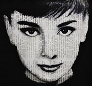 Michael Cross Metal Prints - Art in thenews 12-Audrey Metal Print by Michael Cross