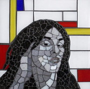 Mosaic Portrait Glass Art - Art Inspired Art by Gila Rayberg