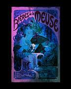 Gypsy Digital Art - Art Nouveau - Bieres de la Meuse by Absinthe Art By Michelle LeAnn Scott