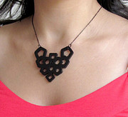 Gothic Jewelry - Art Nouveau Geometric Necklace by Rony Bank