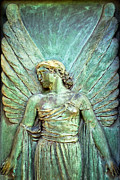 Graveyard Digital Art - Art Nouveau Guardian Angel in Pere Lachaise Paris by Mark E Tisdale