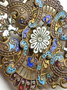 Jewelry Greeting Cards Photos - ART nouveau by Natalie Hawkins