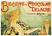 Advertisment Paintings - Art Nouveau by Pg Reproductions