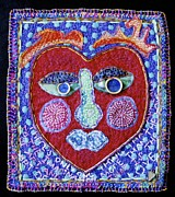 Folk Tapestries - Textiles Posters - Art of Love Poster by Susan Sorrell