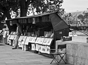 At Work Prints - Art Seller on the Left Bank - Paris People Series Print by Georgia Fowler