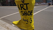 Crosswalk Photos - Art Shoe by MaryEllen Frazee