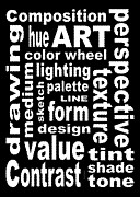 Subway Art Prints - Art Sign Black Print by David K Small