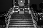 Contemporary Night Scape Prints - Art Stairs Print by Chuck De La Rosa