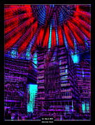 Night Cafe Mixed Media Prints - Art Work 006 Sony Center Berlin Print by Alexander Drum