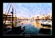 North Beach Mixed Media Acrylic Prints - Art Work 026 Yacht Promenade Acrylic Print by Alexander Drum