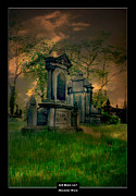 Night Angel Framed Prints - Art Work 117 cemetery II Framed Print by Alexander Drum