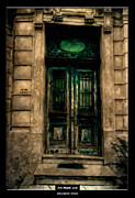 Front Porch Mixed Media Prints - Art Work 135 old door Print by Alexander Drum