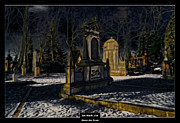 Art Of The Mystic Prints - Art Work 154 cemetery Print by Alexander Drum