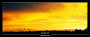 Cool Color Framed Prints Posters - Art Work 247 sunset Poster by Alexander Drum