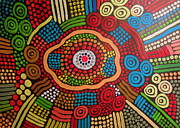 Aboriginal Art Painting Framed Prints - Arte Aboriginal 2 Framed Print by Roberto Gagliardi