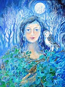 Archetypal Posters - Artemis and the Wren- Poster by Trudi Doyle
