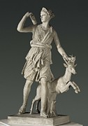 Antique Sculpture Framed Prints - Artemis The Huntress, Known Framed Print by Everett