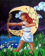 Greek Gods Paintings - Artemis by Whitney Morton