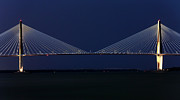 Arthur Ravenel Jr Bridge Framed Prints - Arthur Ravenel Jr. Bridge Framed Print by John Rizzuto