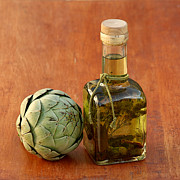 Stopper Prints - Artichoke and Olive Oil Print by Art Block Collections