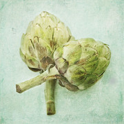 Flora Framed Prints - Artichokes Framed Print by Priska Wettstein