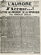 Zola Posters - Article By Emile Zola Denouncing Poster by Everett