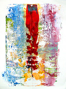 Selection Painting Metal Prints - Artifact monoprint Metal Print by Charlie Spear