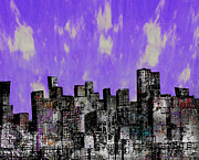 Cityscape Mixed Media Prints - Artificial Landscape 5 Print by Andy  Mercer