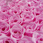 Roses Photos - Artificial pink roses by Bernard Jaubert