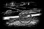 Infrared Digital Art Framed Prints - Artillery at Gettysburg Framed Print by Paul W Faust -  Impressions of Light