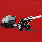Iraq Painting Originals - Artillery Gun by Slade Roberts