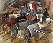 Artillery Digital Art Framed Prints - Artillery Framed Print by Roger de La Fresnaye